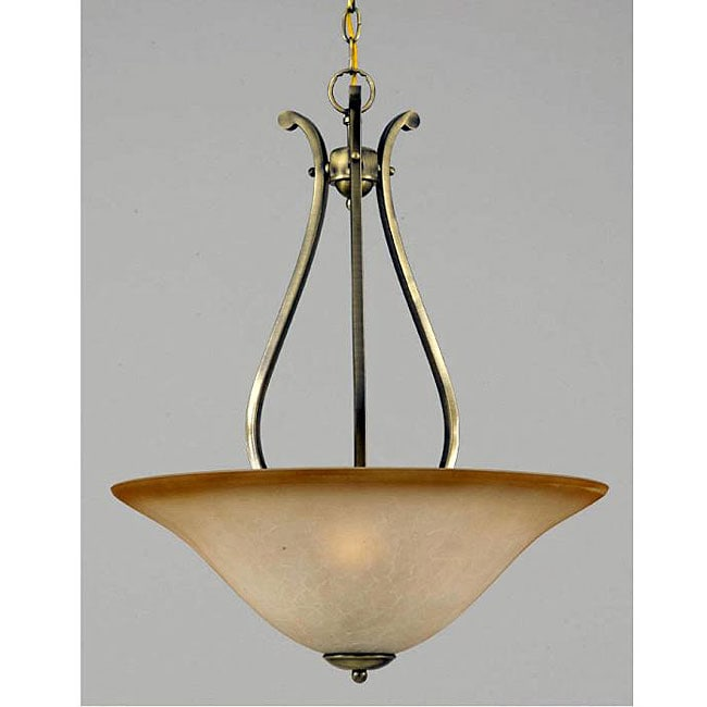 Value Series 3-light Antique Brass Pendant