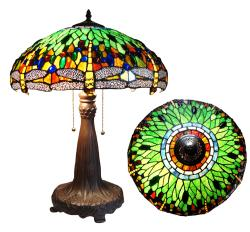 Tiffany-style Classic Dragonfly 24-inch Table Lamp