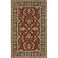 Hand-tufted Coliseum Rust Traditional Border Wool Rug (5' x 8')