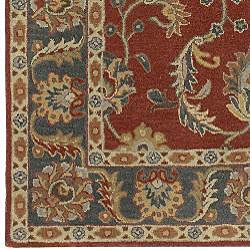 Hand Tufted Coliseum Rust Traditional Border Wool Rug 3