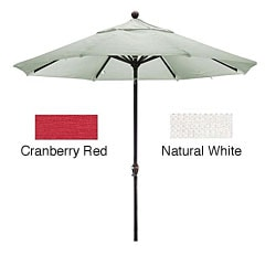 Premium Woven Olefin Nine-Foot Dark Bronze Aluminum TIlting Patio Umbrella