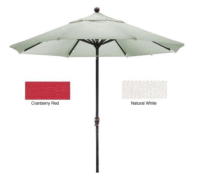 Lauren & Company Premium Woven Olefin Nine-Foot Dark Bronze Aluminum TIlting Patio Umbrella