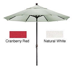 Lauren & Company Premium Woven Olefin Nine-Foot Dark Bronze Aluminum TIlting Patio Umbrella