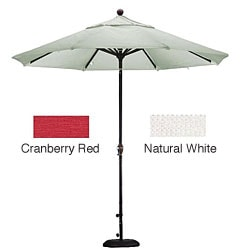 Lauren & Company Premium Woven Olefin 9-foot Patio Umbrella with Stand