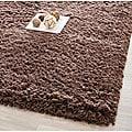 Safavieh Plush Super Dense Hand-woven Chocolate Premium Shag Rug (8'6 x 11'6)
