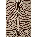 Hand-tufted Zebra Beige Wool Rug (6' x 9')