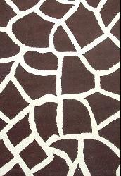 Hand-tufted Giraffe Wool Rug (6' x 9')