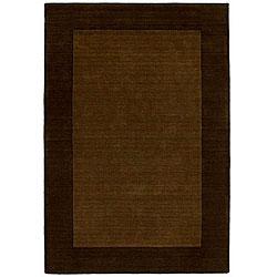 Hand-tufted Bordered Wool Coffee Rug (6' x 9')