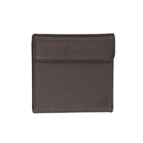 Premium Black Leather Portable CD/ DVD Holder