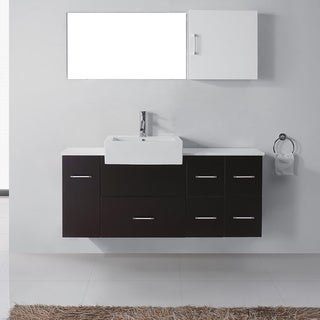 Virtu USA Hazel 56-inch Single Sink Bathroom Vanity Set