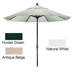 Lauren & Company Premium Woven Olefin 9-foot Dark Bronze Aluminum Patio Umbrella