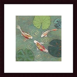 Aleah Koury 'Floating Motion I' Wood Framed Art Print