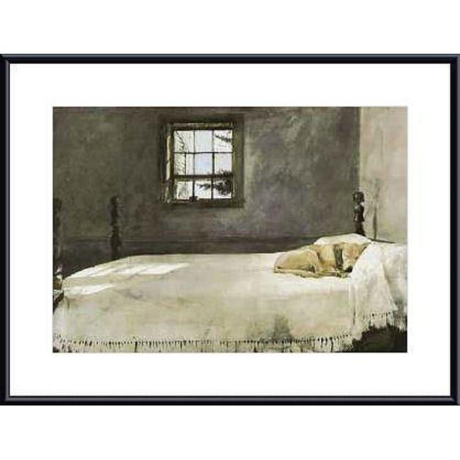 Andrew wyeth 39 master bedroom 39 metal framed art print for The master bedroom print