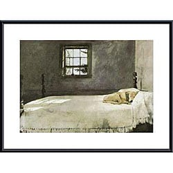 Andrew Wyeth 'Master Bedroom' Metal Framed Art Print