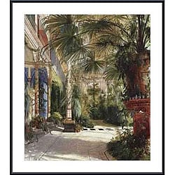 Carl Blechen 'The Palm House' Framed Art Print