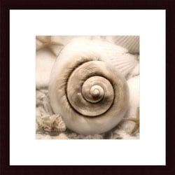 Donna Geissler 'Iridescent Seashell I' Wood Framed Art Print