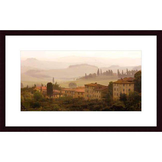 Jim Chamberlain 'Tuscan Mist' Wood Framed Art Print