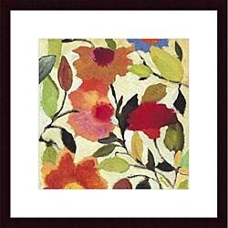Kim Parker 'Begonias' Wood Framed Art Print