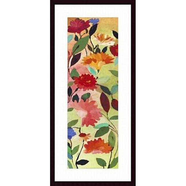 Kim Parker 'Freesia' Wood Framed Art Print