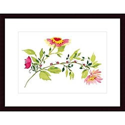 Kim Parker 'Lady Bugs in the Garden' Wood Framed Art Print
