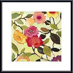 Kim Parker 'Wild Roses' Metal Framed Art Print