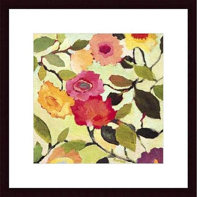Kim Parker 'Wild Roses' Wood Framed Art Print