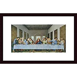 Leonardo da Vinci 'The Last Supper' Wood Framed Art Print