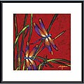 Robert Ichter 'Dragonfly Dreams' Metal Framed Art Print