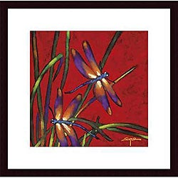 Robert Ichter 'Dragonfly Dreams' Wood Framed Art Print