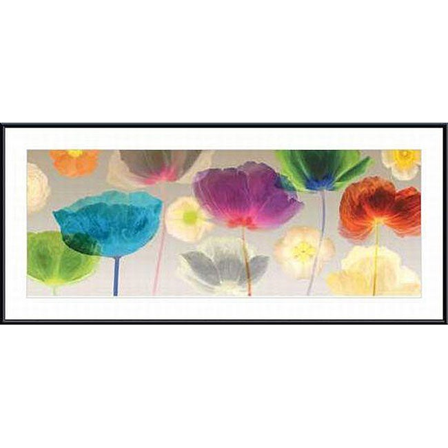 Robert Mertens 'Poppy Panorama' Metal Framed Art Print