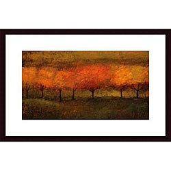 Seth Winegar 'Red Trees I' Wood Framed Art Print