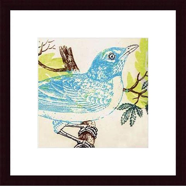 Swan Papel 'Bluebird' Wood Framed Art Print