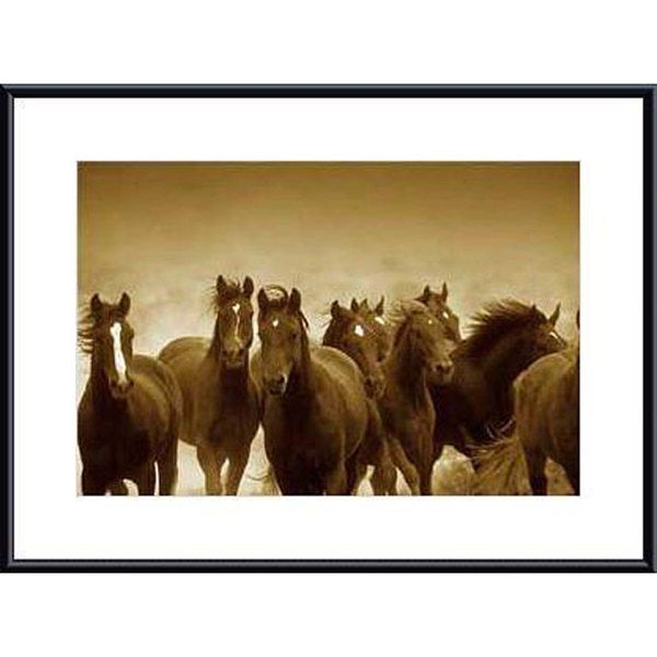 Tony Stromberg 'The Meeting' Metal Framed Art Print
