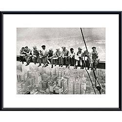 'Lunch Atop a Skyscraper' Metal Framed Art Print