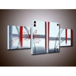 Hand-painted 'Abstract' Canvas Art Set