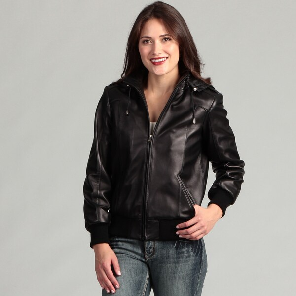 Izod Women's New Zealand Lambskin Bomber