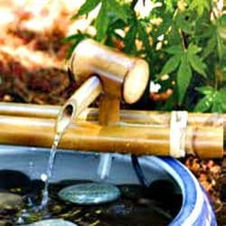 Classic 12-inch Bamboo Water Spout and Pump Kit (Vietnam)