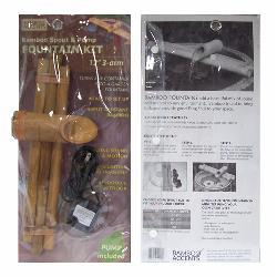 Three-arm 12-inch Bamboo Water Spout and Pump Kit , Handmade in Vietnam