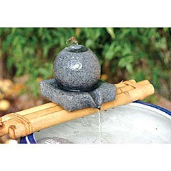 Sphere Figurine 12-inch Bamboo Water Spout and Pump Kit (Vietnam)