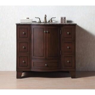 Stufurhome Grand Cheswick 40-inch Single Sink Granite Top Vanity