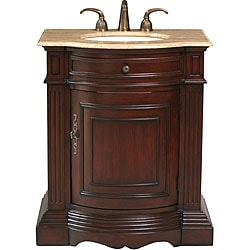 Stufurhome Catherine 30-inch Single Sink Marble Top Vanity