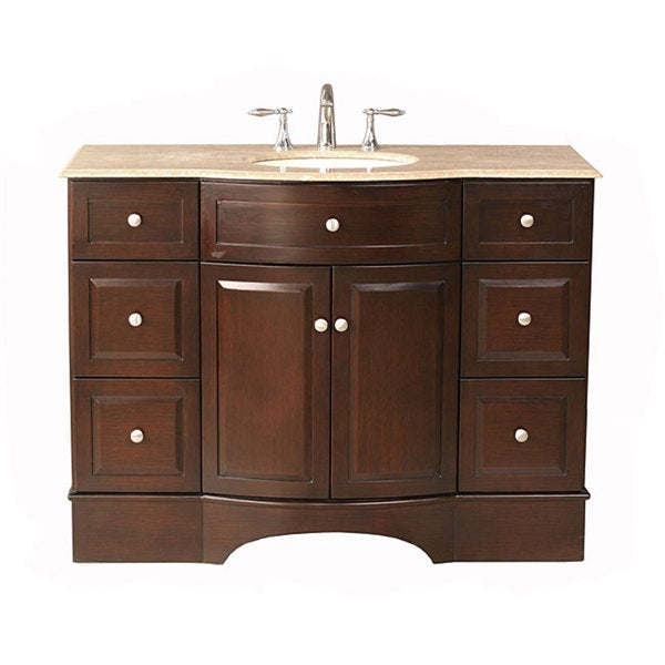 48 inch freestanding undermount single integrated sink bathroom vanity