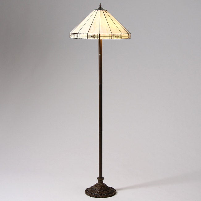 Tiffany style simple floor lamp overstocktm shopping for Overstock tiffany floor lamp