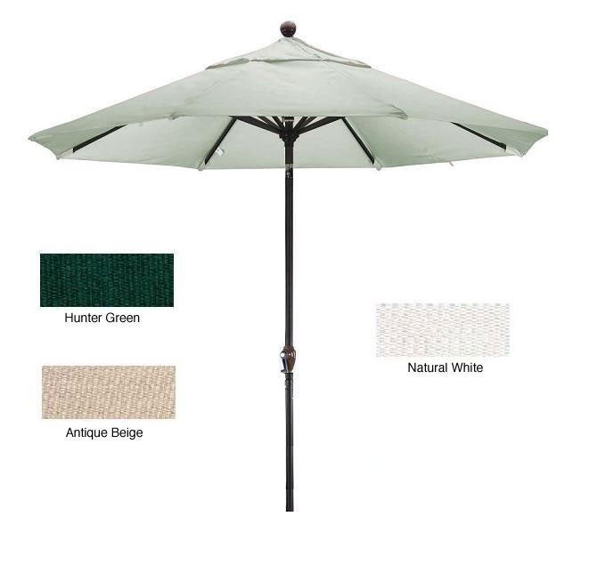 Lauren & Company Premium Woven Olefin 9-foot Aluminum Patio Umbrella with Stand