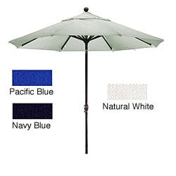 Lauren & Company Woven Olefin 9-foot Dark Bronze Aluminum Patio Umbrella
