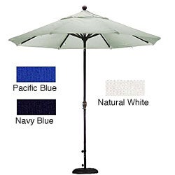 Woven 9-foot Patio Umbrella with Stand