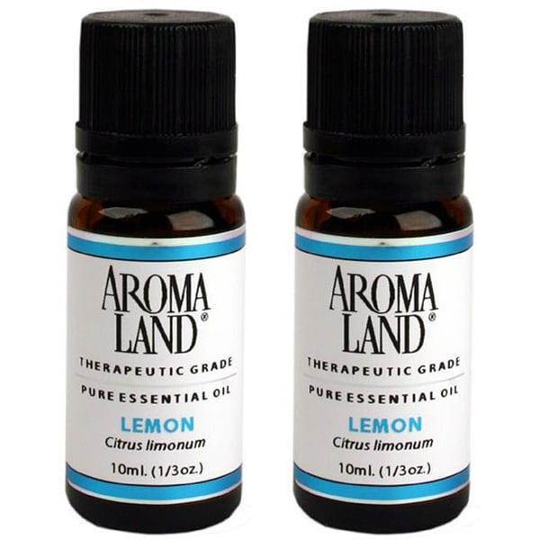 Aromaland 10 ml Lemon Essential Oils (Pack of 2)
