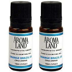Aromaland 10-ml Orange Brazil 5x Essential Oil (Pack of 2)