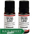 Aromaland Refreshing 10 ml Essential Oil Blend (Pack of 2)