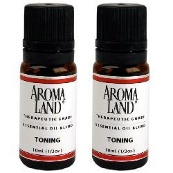 Aromaland Toning 10 ml Essential Oils (Pack of 2)